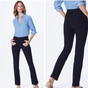 Nydj black barbara bootcut jeans 10 new